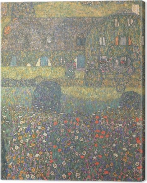 Leinwandbild Gustav Klimt - Landhaus am Attersee - Reproduktion