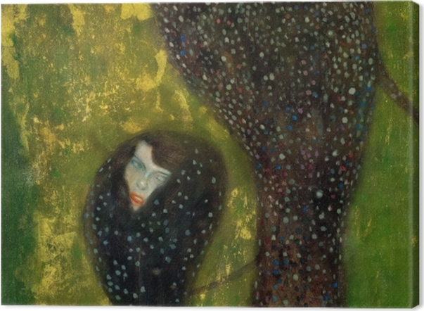 Leinwandbild Gustav Klimt - Nixen (Silberfische) - Reproduktion