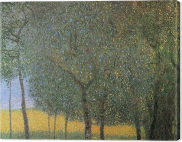 Leinwandbild Gustav Klimt - Obstbäume am Attersee - Reproduktion