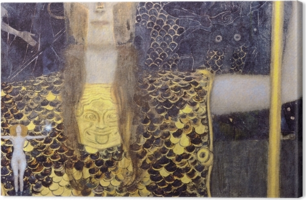 Leinwandbild Gustav Klimt - Pallas Athene - Reproduktion