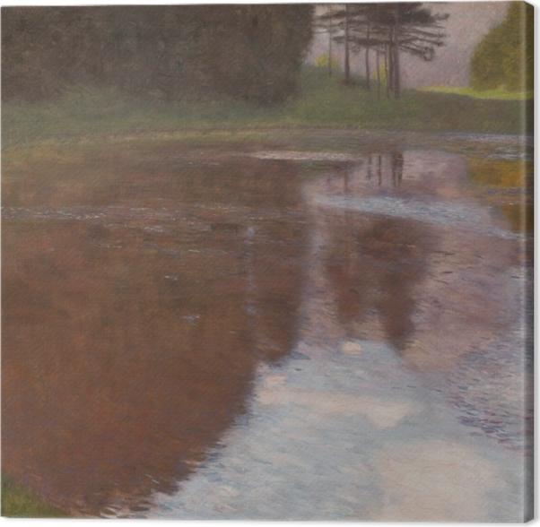 Leinwandbild Gustav Klimt - Stiller Weiher (Egelsee bei Golling, Salzburg) - Reproduktion
