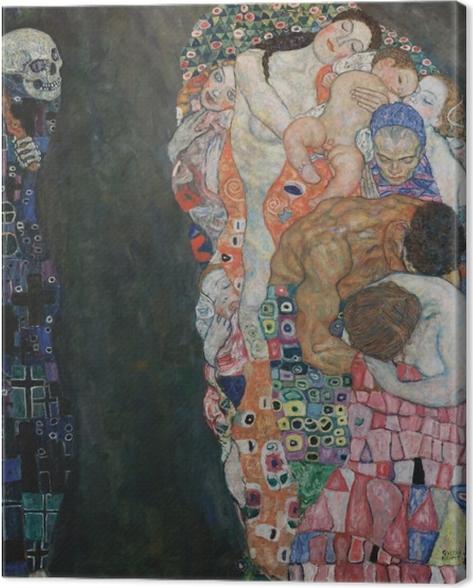 Leinwandbild Gustav Klimt - Tod und Leben - Reproduktion