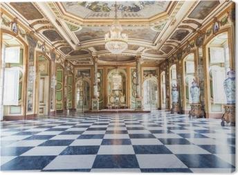 Leinwandbild Hall of Ambassadors in Queluz National Palace, Portugal