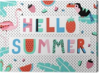 Leinwandbild Hallo Sommer-Plakat