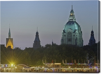 Leinwandbild Hannover, Rathaus, Marktkierche, Maschseefest