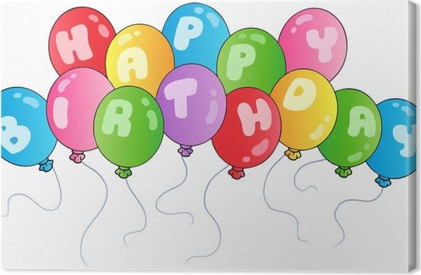 Leinwandbild Happy Birthday Balloons