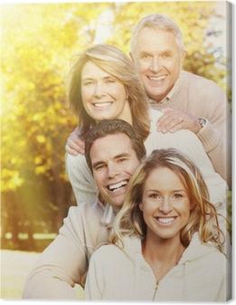 Leinwandbild Happy family portrait