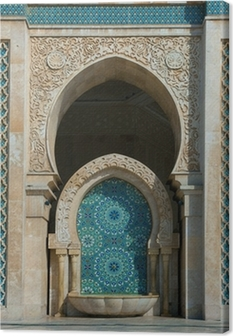 Leinwandbild Hassan-II.-Moschee in Casablanca, Marokko
