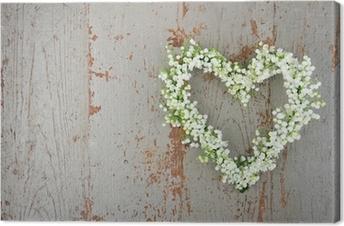 Leinwandbild Heart shaped Blume Kranz von lilys des Tales