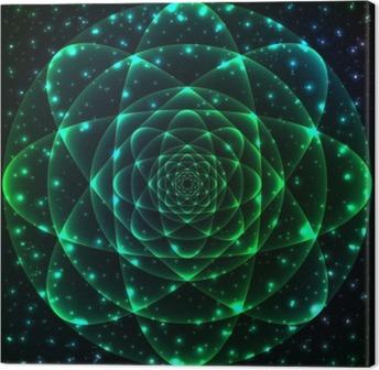 Leinwandbild Heilige Geometrie-Symbol. Mandala Geheimnis Element