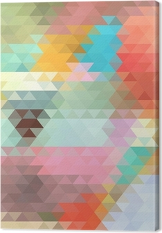 Leinwandbild Hellen Hintergrund der Dreiecke