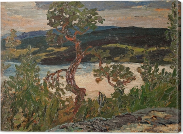 Leinwandbild Helmer Osslund - Abend in Ångermanland - Reproductions