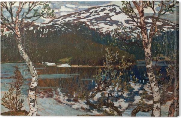 Leinwandbild Helmer Osslund - Frühlingstag am Rensjön-See nahe Åre - Reproductions