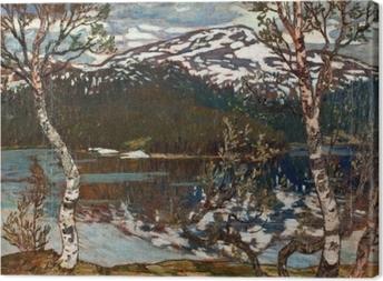 Leinwandbild Helmer Osslund - Frühlingstag am Rensjön-See nahe Åre