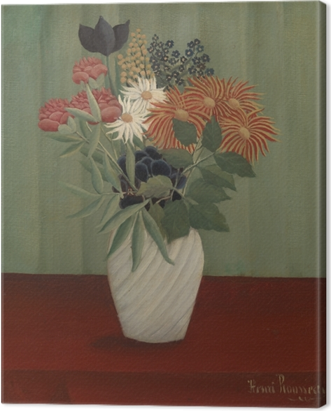 Leinwandbild Henri Rousseau - Blumenstrauß - Reproduktion