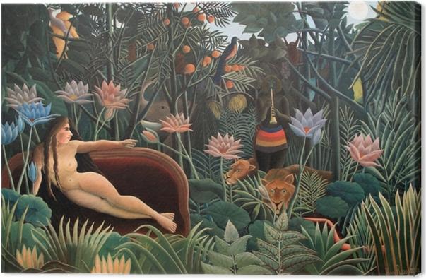 Leinwandbild Henri Rousseau - Der Künstler malt seine Frau - Reproduktion