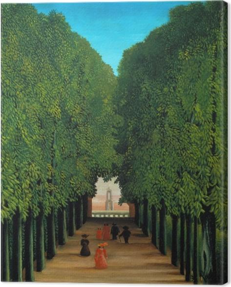 Leinwandbild Henri Rousseau - Die Allee im Park von Saint-Cloud - Reproduktion