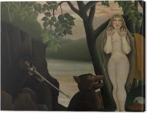 Leinwandbild Henri Rousseau - Die böse Überraschung - Reproduktion