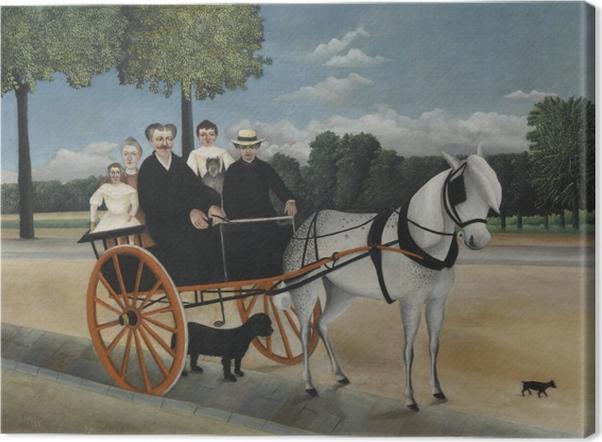 Leinwandbild Henri Rousseau - Die Kutsche von Père Junier - Reproduktion