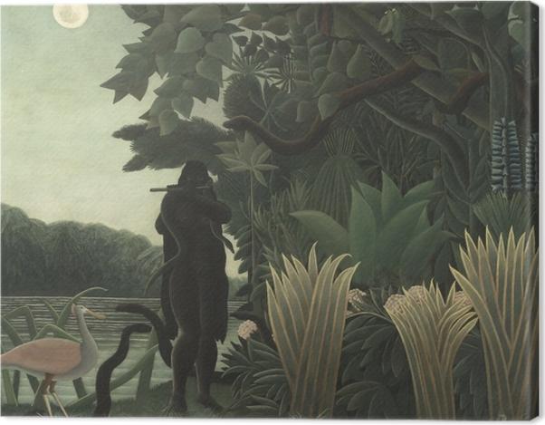 Leinwandbild Henri Rousseau - Die Schlangenbeschwörerin - Reproduktion