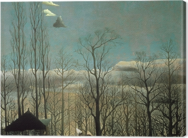 Leinwandbild Henri Rousseau - Eine Karnevalsnacht - Reproduktion