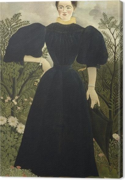 Leinwandbild Henri Rousseau - Frauenbildnis - Reproduktion