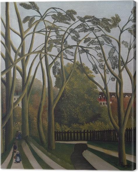 Leinwandbild Henri Rousseau - Frühlingslandschaft an den Ufern der Bièvre bei Bicêtre - Reproduktion