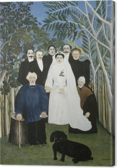 Leinwandbild Henri Rousseau - Hochzeit auf dem Land - Reproduktion
