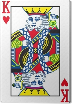 Leinwandbild Herz König