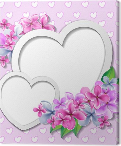 Leinwandbild Herz mit Blumen-Design-Vorlage • Pixers® - Wir leben ...