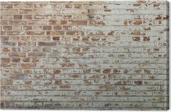 Leinwandbild Hintergrund der alten Vintage schmutzigen Mauer mit Peeling Gips
