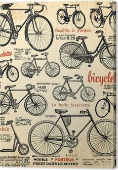 Leinwandbild Hintergrund Fahrrad
