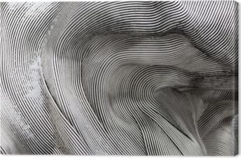 Leinwandbild Hintergrundtextur der glänzenden Metalloberfläche. Die gebogene Platte besteht aus Eisen.