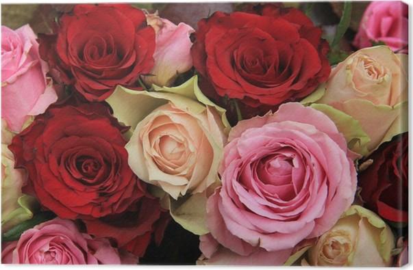 Leinwandbild Hochzeitsblumen In Rosa Und Rot Pixers Wir Leben