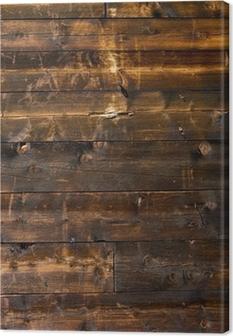 Leinwandbild Holzwand Almhütte
