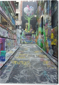 Leinwandbild Hosier Lane - Melbourne