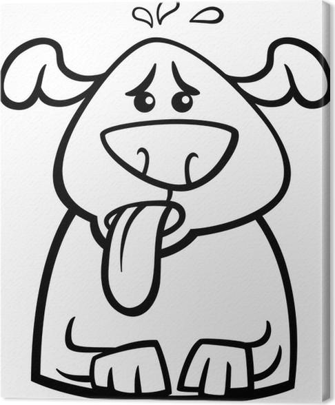 Leinwandbild Hund in der Hitze cartoon Malvorlagen • Pixers® - Wir ...