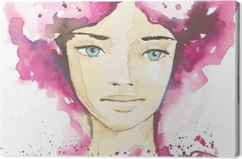 Leinwandbild Illustration der abstrakte Porträt einer Frau