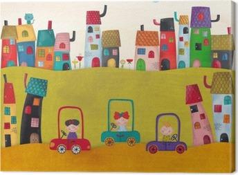 Leinwandbild Illustration für Kinder