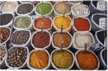 Leinwandbild Indian farbigen Gewürzen
