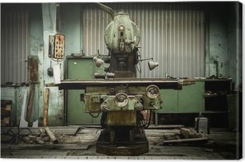 Leinwandbild Industrielle Maschinen in einer Fabrik