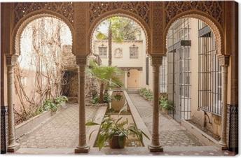 Leinwandbild Innenansicht der Alhambra