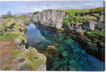 Leinwandbild Island - Nationalpark Thingvellir