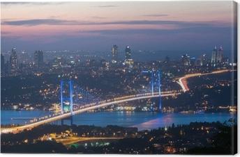 Leinwandbild Istanbul in der Nacht