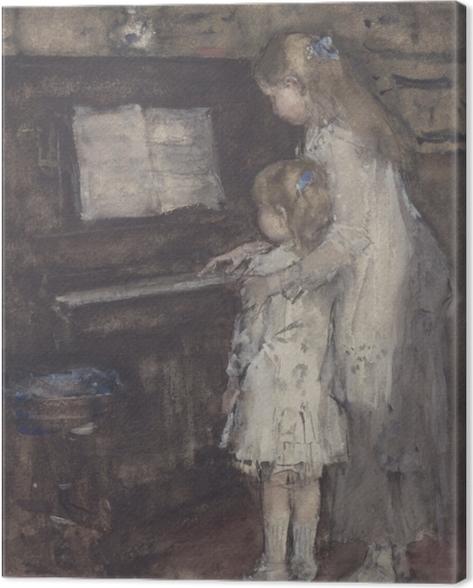 Leinwandbild Jacob Maris - Jacob Maris Töchter am Klavier - Reproductions