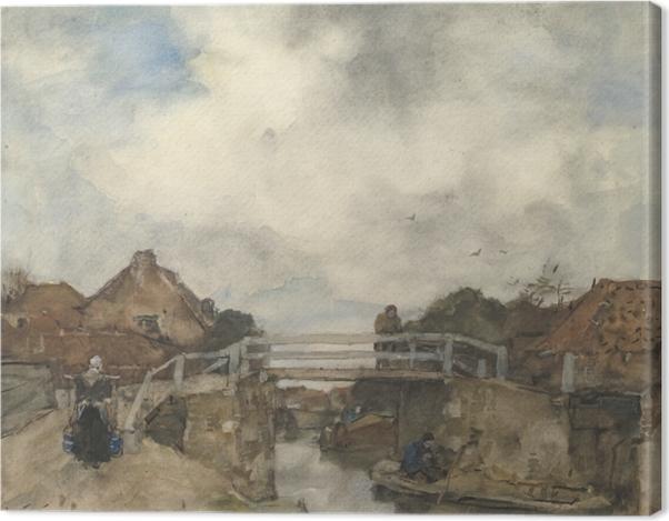 Leinwandbild Jacob Maris - Kanal in Rijswijk - Reproductions