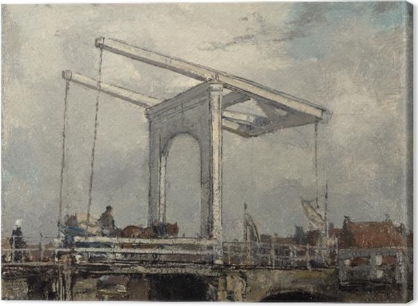 Leinwandbild Jacob Maris - Zugbrücke in einer niederländischen Stadt - Reproductions