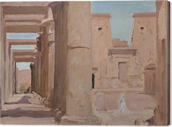 Leinwandbild Jan Ciągliński - Tempel. Von einer Reise nach Ägypten - Reproductions