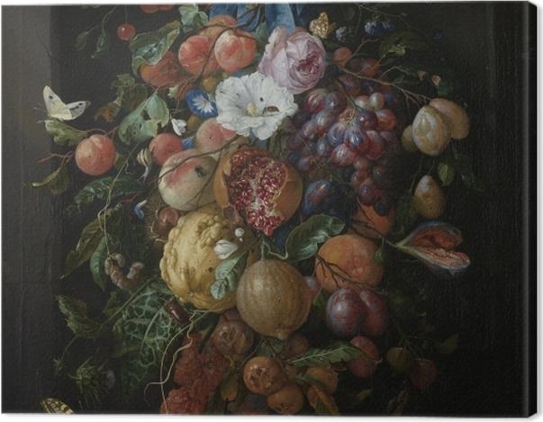 Leinwandbild Jan Davidsz - Festoon of Fruit and Flowers - Reproduktion