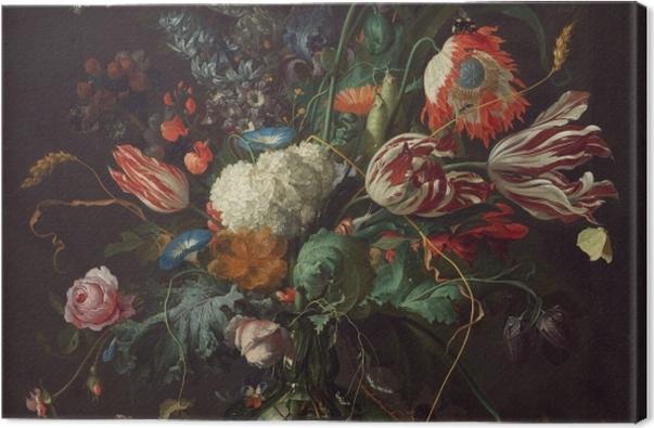 Leinwandbild Jan Davidsz - Vase of Flowers - Reproduktion